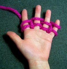 Little Bird SOS: Finger Knitting
