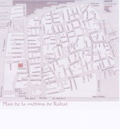 "#map of the old town, ""rabat, #morocco"