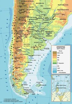 Origen De Las Palabras Argentina Argentina - Argentina map in spanish