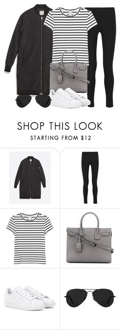 """Style #11553"" by vany-alvarado ❤ liked on Polyvore featuring Zara, Joseph, Monki, Yves Saint Laurent, adidas and Ray-Ban"