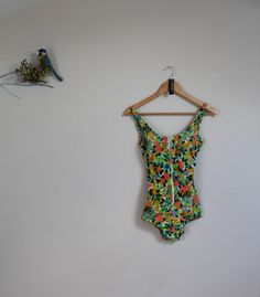 Genuine 60s swimsuit towelling swimsuit vintage by BebopBoutiqueuk