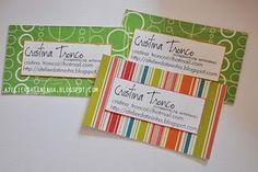 Cartão de visitas com papel decorado #PAP #tutorial #DIY #papercraft