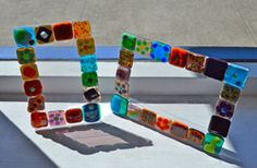 Create a glass fusion picture frame.