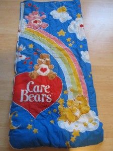 care bears sleeping bag | Vintage 1980s Care Bears Blue Childrens Sleeping Bag | eBay