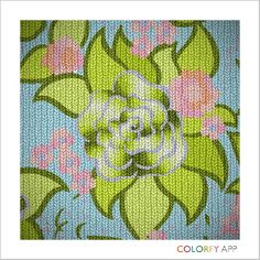Colorfy green hombre knitted rose