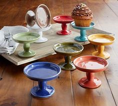 Cambria Mini Serve Footed Cupcake Stand #potterybarn