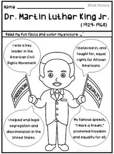 Free printable: Martin Luther King, Jr.'s