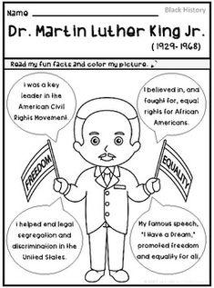 Free printable: Martin Luther King, Jr.'s