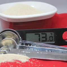 use an inexpensive digital thermometer to boost your bread baking results. White bread, wheat bread, bake bread, yeast, yeast tips Pan Bread, Bread Baking, Bread Dough Recipe, Whole Wheat Bread, Dry Yeast, Baking Tips, Cooking Timer, Digital Thermometer, White Bread