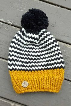 with pom pom / knitted hat / knitted hat / womens / mens gift / unisex winter hat. Knitted hat with pom pom / knitted hat / knitted hat / womens / mens gift / unisex winter hat . Knitted hat with bobble / knitted hat / knitted hat / women / men Crochet Beanie, Crochet Baby, Knitted Hats, Knit Crochet, Mens Knit Hats, Crochet Hat For Men, Slouchy Beanie Pattern, Hand Knitting, Knitting Patterns