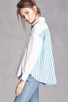 Stripe Panel Popover Shirt