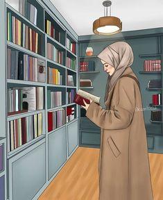 Hijab Anime, Anime Muslim, Girl Cartoon, Cartoon Art, Couple Hijab, Muslim Pictures, Desenho Pop Art, Stylish Photo Pose, Islamic Cartoon