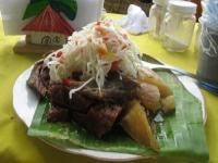 Nicaraguan Meats | Baho (Beef, plantains, and yuca steamed in banana leaves)