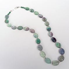 AA Fluorite  necklace with all sterling silver by SashaGirls, $60.00