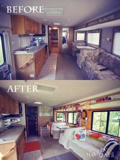 Elegant RV  Motorhome Interior Remodel Really Like The Brightness After The