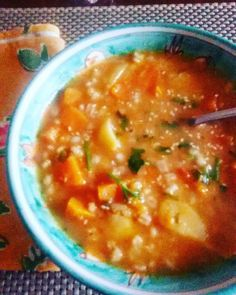 Zuppa di orzo patate e zucca