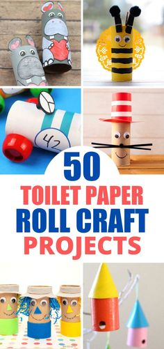 Craft Ideas Using Empty Toilet Paper Rolls - Outnumbered 3 to 1 Tissue Roll Crafts, Toilet Paper Roll Diy, Toilet Paper Roll Crafts, Cardboard Crafts, Cardboard Tubes, Bee Crafts For Kids, Toddler Arts And Crafts, Craft Activities For Kids, Craft Ideas