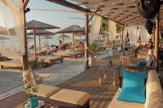 Aqua Beach Bar Thassos - Fine food and drinks Greece Islands, Beach Bars, Where The Heart Is, Natural Beauty, Beautiful Places, Destinations, To Go, Aqua, September