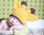 Giraffe Knit Baby Hat