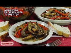 ANTIPASTO DE BERENJENA Y PIMENTÓN la mejor receta y más fácil - YouTube Aubergine Recipe, Sandwich Sauces, Eggplant Recipes, Keto, Diet Snacks, Ceviche, Food Humor, Learn To Cook, Chutney