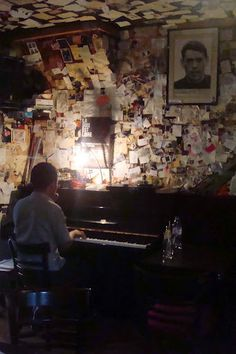Piano Bar in Montmartre- be sure to leave a note on the wall ;)