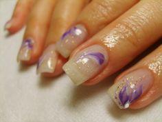gel nails + acrylic flowers