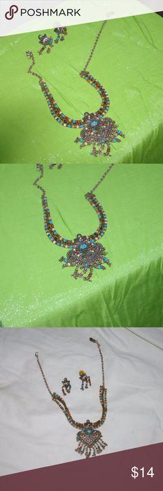 FASHION Ethnic Multi Color Strand Runway NECKLACE Multi-Color Strand Necklace Jewelry