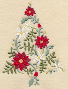 Embroidery Stitches Designs L 5 sizes lovely Christmas tree machine Embroidery Designs at Embroidery Library! Machine Embroidery Projects, Learn Embroidery, Hand Embroidery Stitches, Free Machine Embroidery Designs, Crewel Embroidery, Embroidery Techniques, Embroidery Jewelry, Embroidery Ideas, Embroidered Christmas Stockings