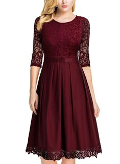 online shopping for MISSMAY Women's Vintage Half Sleeve Floral Lace Cocktail Party Pleated Swing Dress from top store. See new offer for MISSMAY Women's Vintage Half Sleeve Floral Lace Cocktail Party Pleated Swing Dress Plus Size Maxi Dresses, Casual Dresses, Fashion Dresses, Short Sleeve Dresses, Elegant Dresses, Sexy Dresses, Romantic Dresses, Wedding Dresses, Woman Dresses