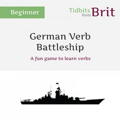 Verb Battleship (great for Substitutes :))- This is a fun German verb ...