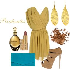 """Pocahontas Disney Princess Girls Night out / Date Night / Prom Outfit"" by natihasi on Polyvore"