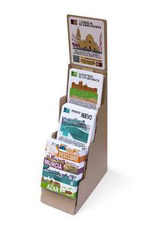 Expositor de revistas, periódicos, prensa, cartas, panfletos, libros hecho de cartón. Exhibitor made out cardboard for press, magazine, newspaper, daily, cards, brochure, books.