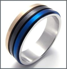 Amazing Mens Black And Blue Wedding Bands More Design  http://articleall.com/black-wedding-band/mens-black-and-blue-wedding-bands/
