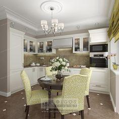 green beige kitchen