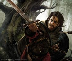 Boromir  The path of Need    //  Magali Villeneuve  (for The Lord of the Rings LCG  - Fantasy Flight Games)