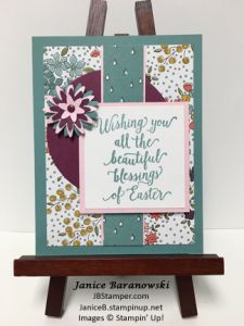 Easter-Flowers-MOJO438-SSINKCC31, Wildflower Fields paper, Suite Sayings stamps, Blossom Bunch punch. JBStamper.com