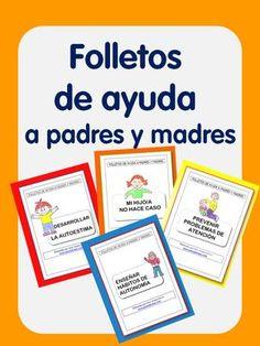 Folletos de ayuda a madres y padres
