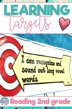 These 2nd grade printable Common Core State Standard aligned learning targets are an efficient visual to help your students meet their daily learning objectives in Reading. They are written in kid friendly language using 'I can' statements and you can display these templates as a sign on a bulletin board. Click the link to see the learning targets and also the success criteria! #learningtargets #learning #targets #objectives #success