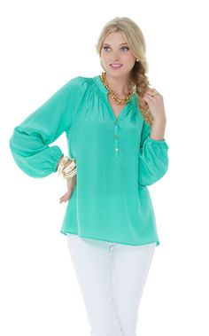 Lilly Pulitzer Elsa Top in Spearmint - Spring/Summer 2014