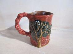 Red Tree, Ceramic Art, Pottery, Ceramics, Mugs, Tableware, Enchanted, Art Work, Ceramica