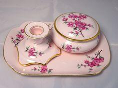 Pink Bone China Vanity Dressing Table Set by SimplyCharmingukshop, £12.00