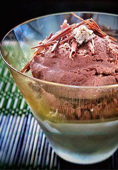 Chocolate and cinnamon sorbet, a Malouf recipe.