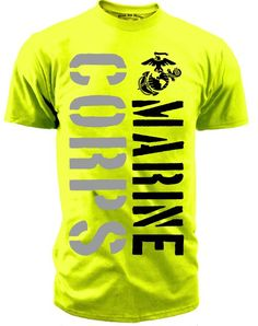 Men's Marines T-Shirt - US Marine Corps Hi Vis Men's To Rep the USMC
