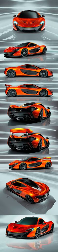 The design on the McLaren P1was inspired by the canopies of fighter jets, which creates a sense of flying.