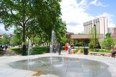 Philadelphia's newest park, Sister Cities Park on Logan Square.