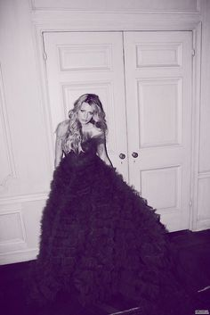 Love the big dress.