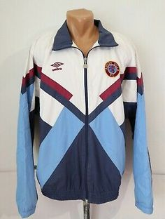 ASTON VILLA 1990/1991/1992 FOOTBALL SOCCER JACKET TRACKSUIT TOP UMBRO ENGLAND L | eBay