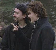 set photos Tim Burton films - Tim & Johnny on the set of Sleepy Hollow