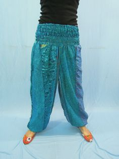 Gypsy Boho Sari Harem Trouser  Baggy Loose by Labhanshi on Etsy, $25.00