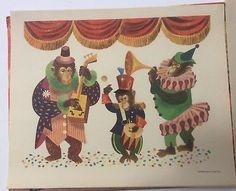 1950's - Chimpanzee Monkey Band  Circus Animals Portfolio of 6 by Leonard Weisgard, 1958 Penn Prints